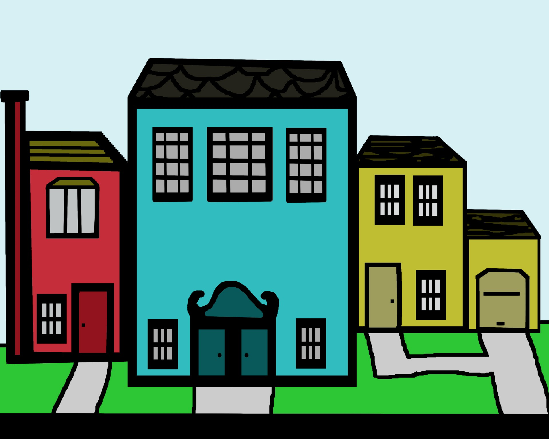 Neighborhood clipart. Clip art free stock