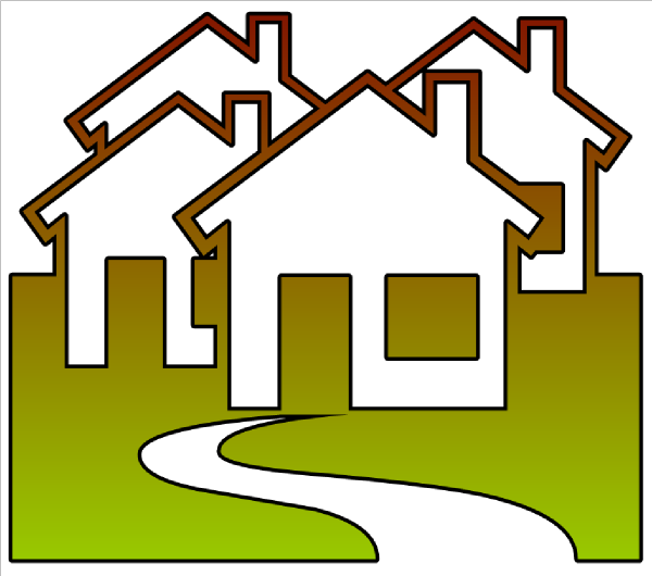Neighborhood clipart. Cutout clip art at