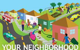 Meet your neighbors . Neighborhood clipart