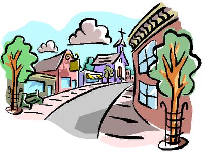 Neighborhood clip art free. Neighbors clipart downtown