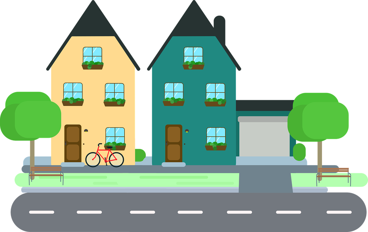 Neighborhood clipart.  collection of city