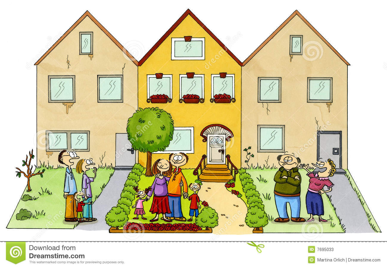 Neighborhood clipart. Neighbors clip art free