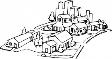 Neighborhood clip art black. Neighbors clipart subdivision