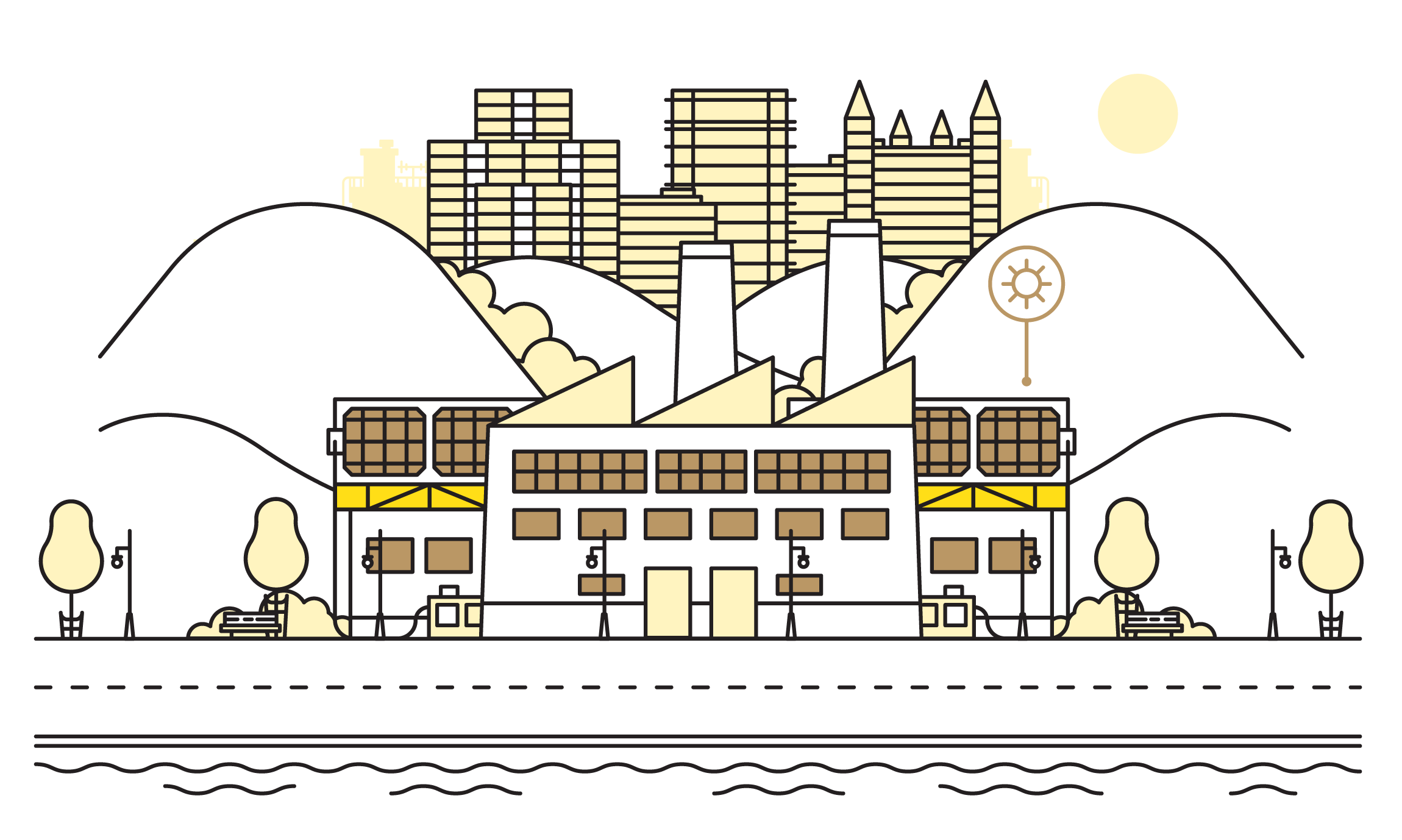 Neighborhood clipart city layout. How seven cities are