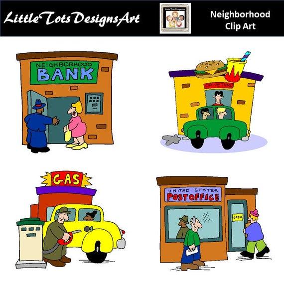Neighborhood clipart clip art. Digital buildings kids room