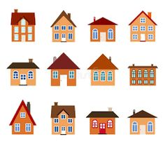 Neighborhood clipart coloured house.  best houses images