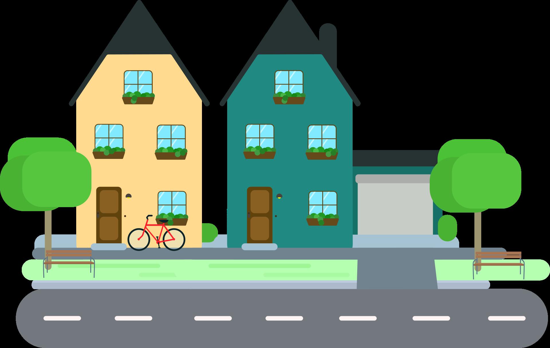 Neighborhood clipart country town. Sensational design house clip