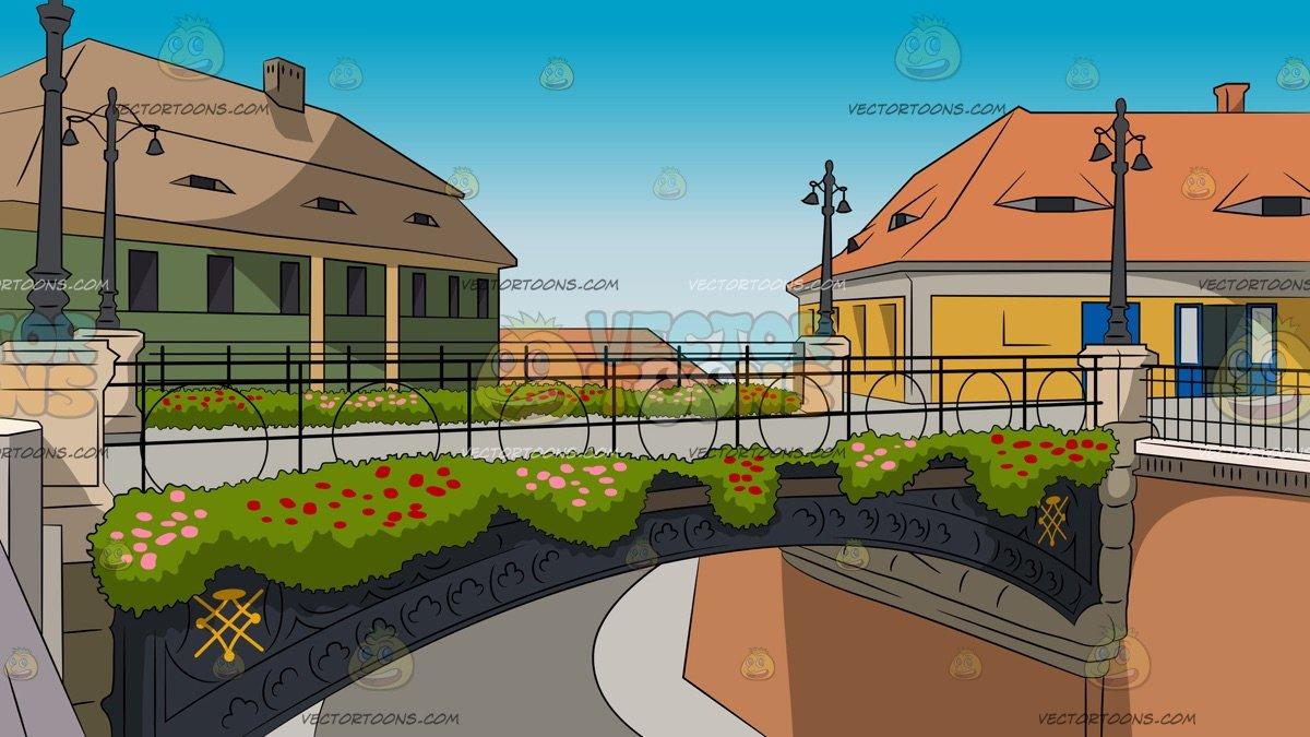 Neighborhood clipart country town. Bridge background