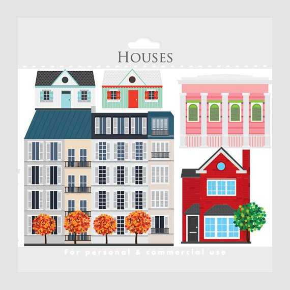 Pin on products . Neighborhood clipart french building
