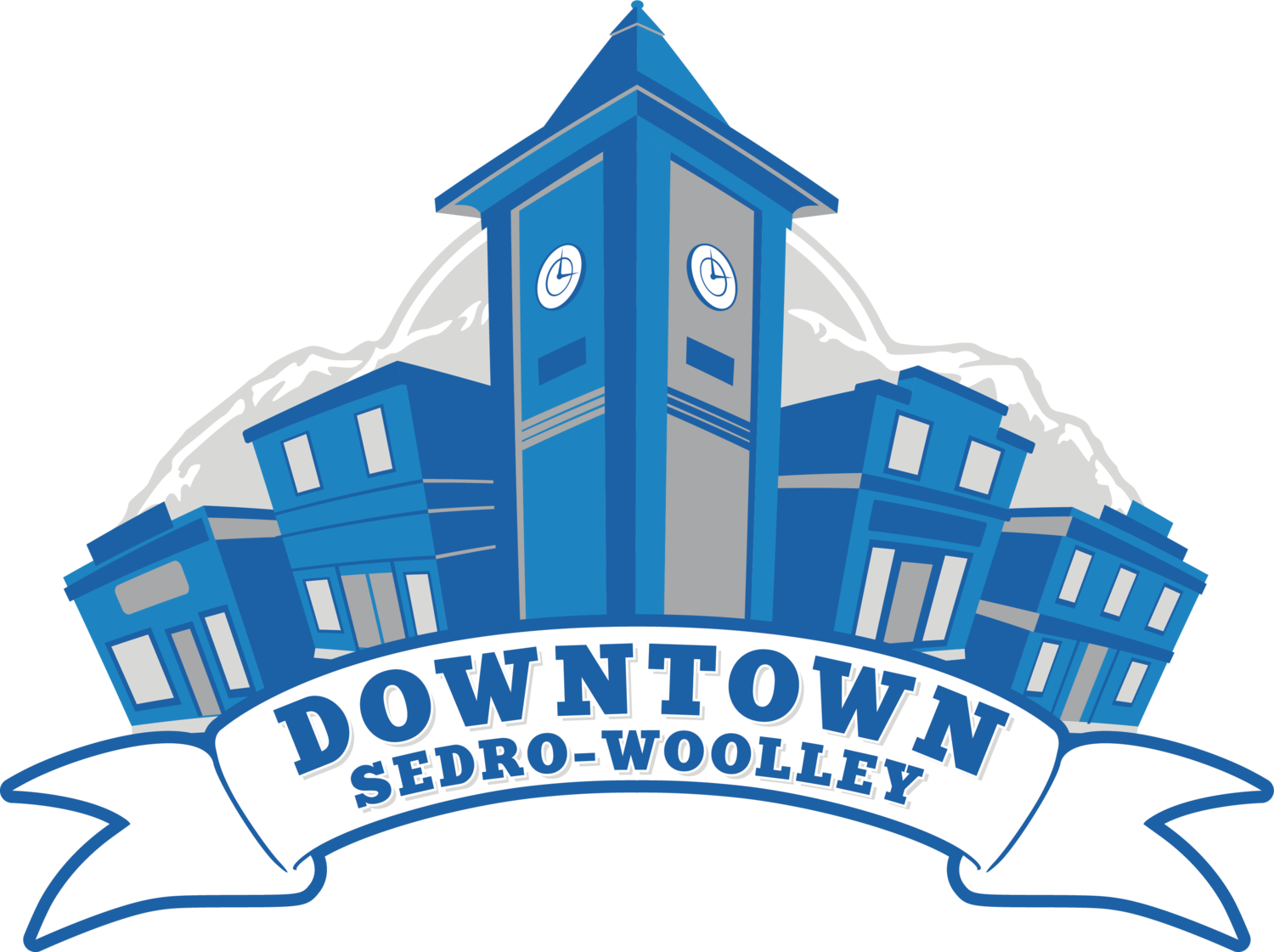 Neighbors clipart downtown. Revitalize woolley sedro association