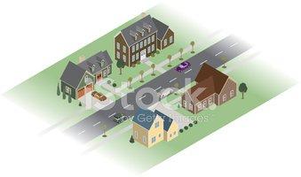 Stock vectors me . Neighborhood clipart isometric