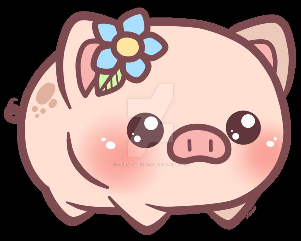 Neighborhood clipart kawaii. Little piggy charm design