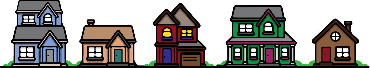 Invest in your neighbor. Neighbors clipart many house