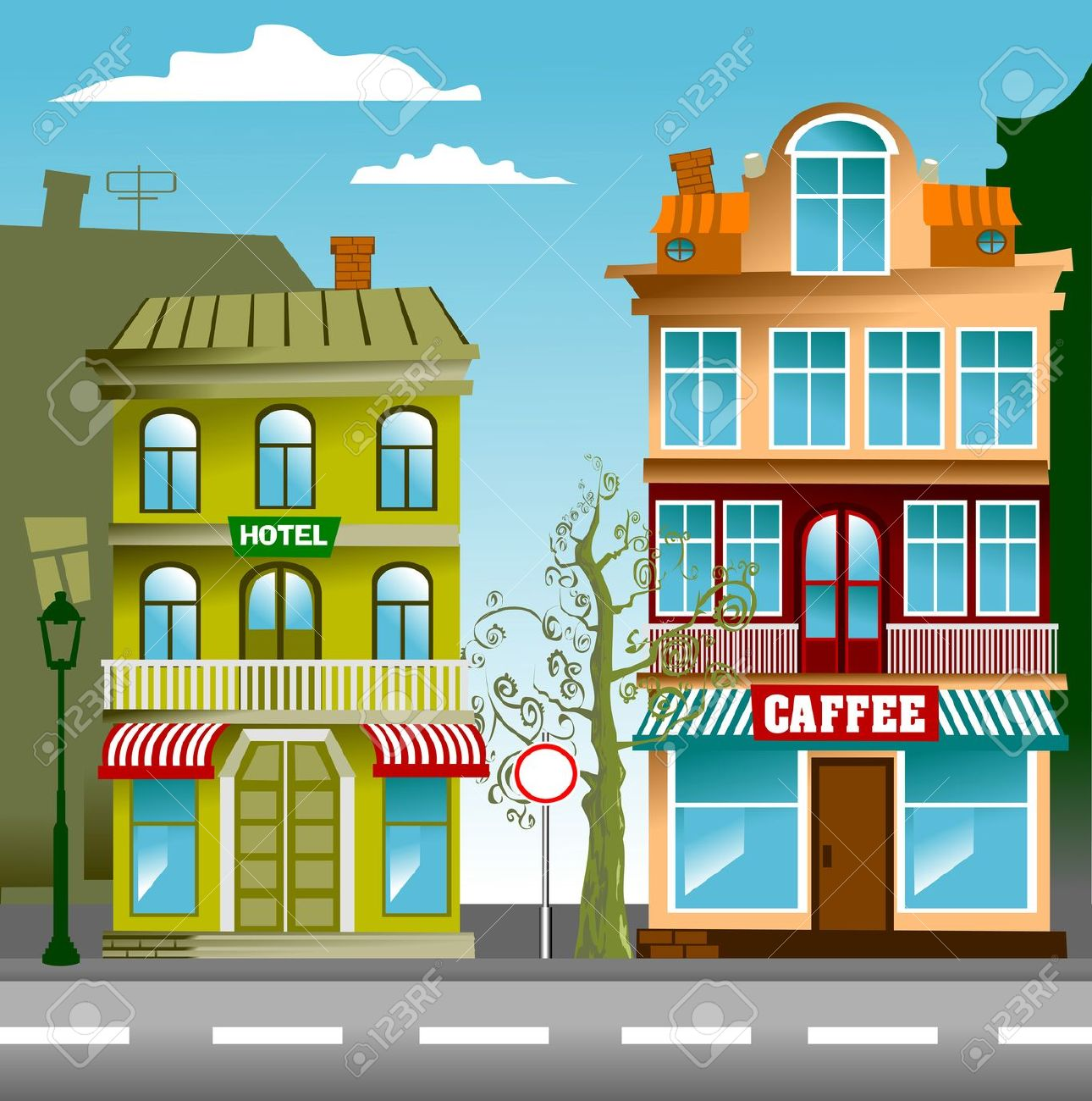 Free street cliparts download. Neighborhood clipart little town