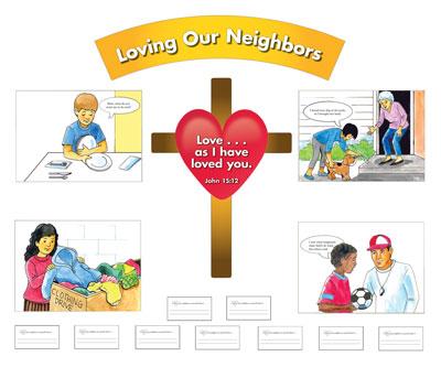 Bulletin board . Neighborhood clipart love your neighbor