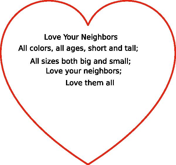 Neighborhood clipart love your neighbor. Heart clip art at