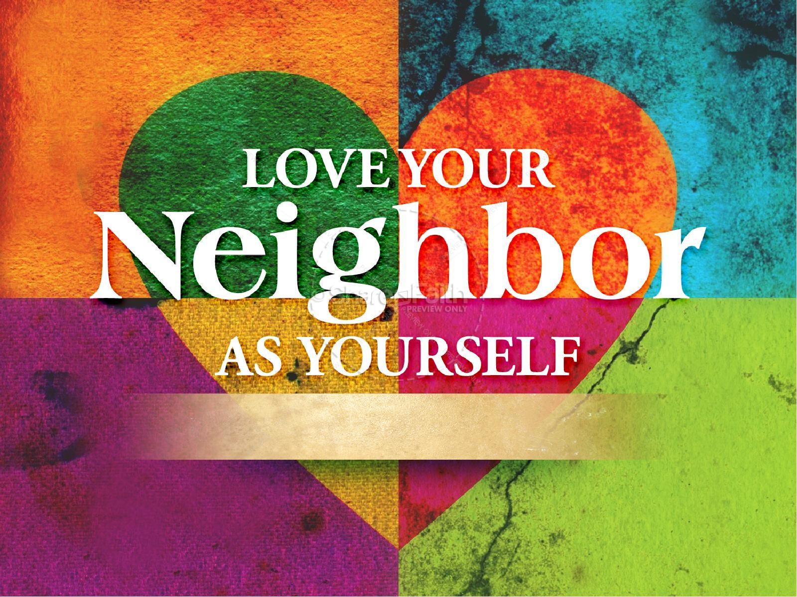 As yourself powerpoint template. Neighborhood clipart love your neighbor