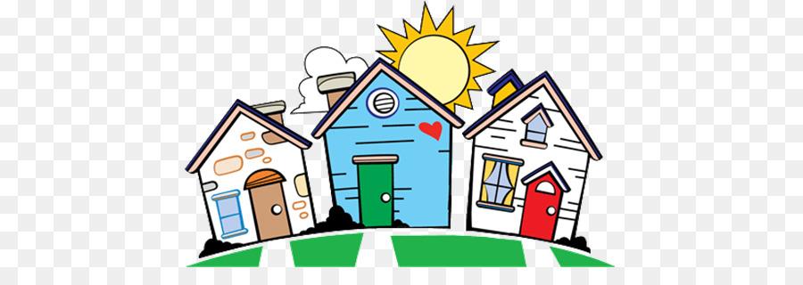 Neighborhood clipart many house. Line cartoon home graphics