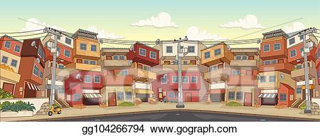 Clip art vector street. Poverty clipart poor neighborhood