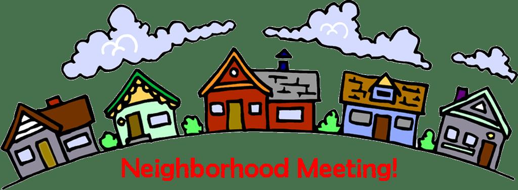 General october th pierson. Neighborhood clipart neighborhood meeting