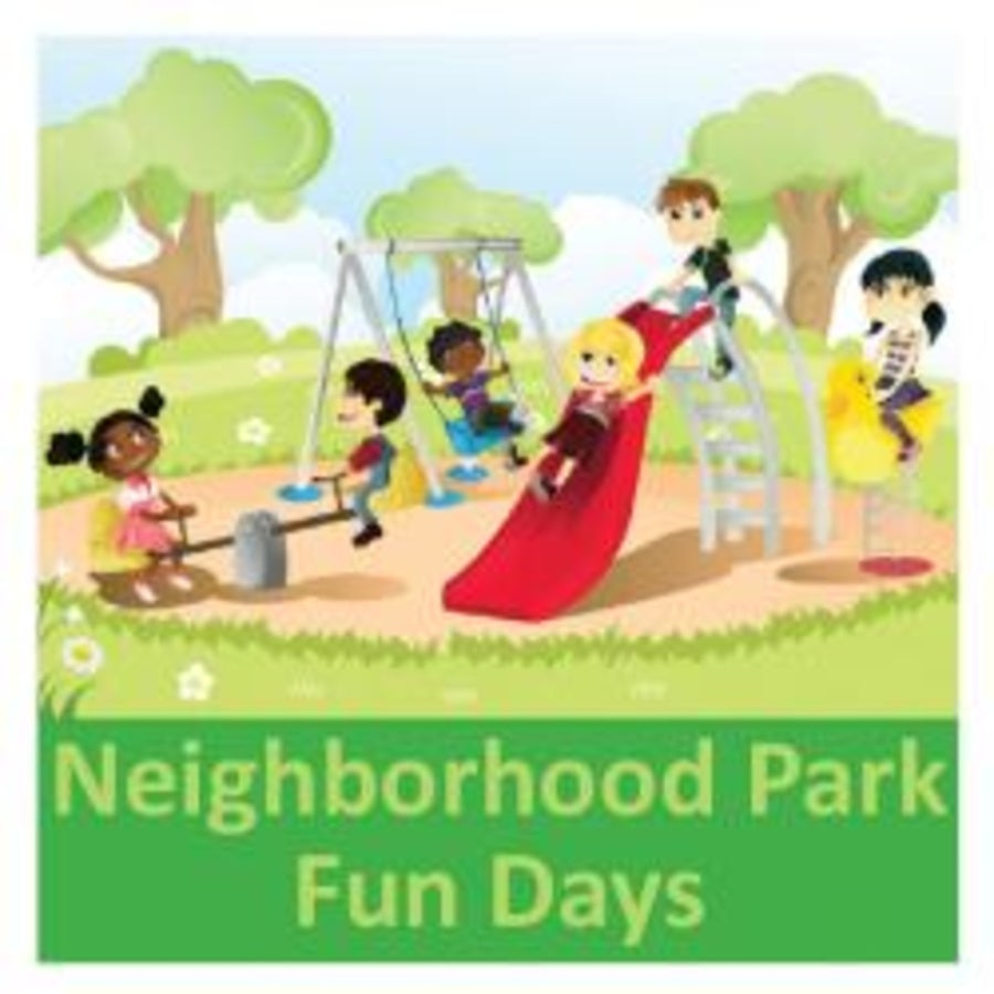 Neighborhood clipart neighborhood park. Final fun day in
