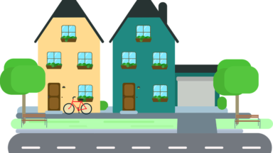 Clip art images gallery. Neighborhood clipart neighborhood street