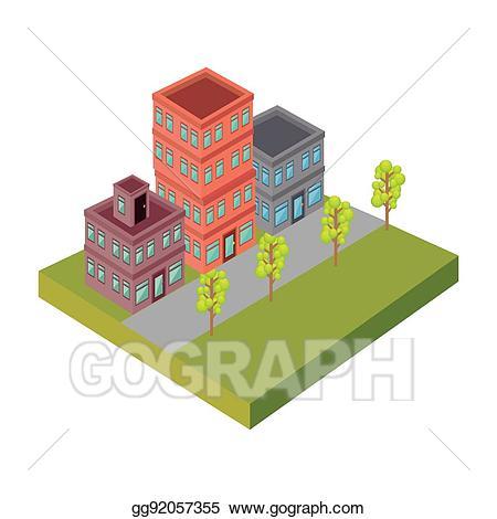 Vector stock street icon. Neighborhood clipart nice neighborhood
