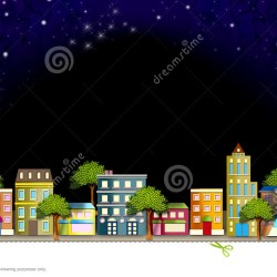 City landscape at clip. Neighborhood clipart night clipart