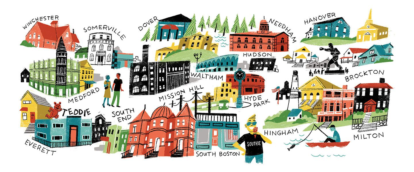 Neighborhood clipart our town. Top spots to live