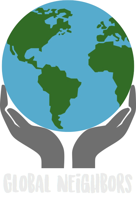 Global logo. Neighbors clipart neighborhood border
