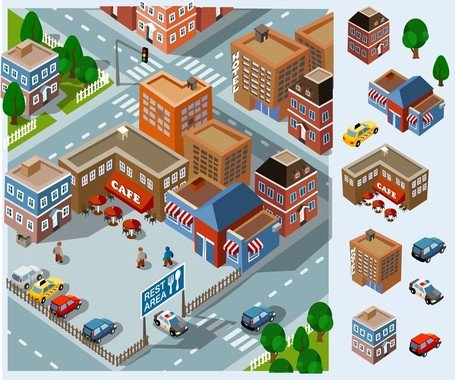 Free clip art download. Neighborhood clipart residential community