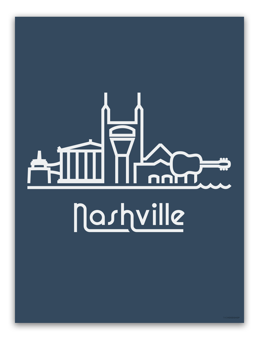Nashville logo print the. Neighborhood clipart skyline