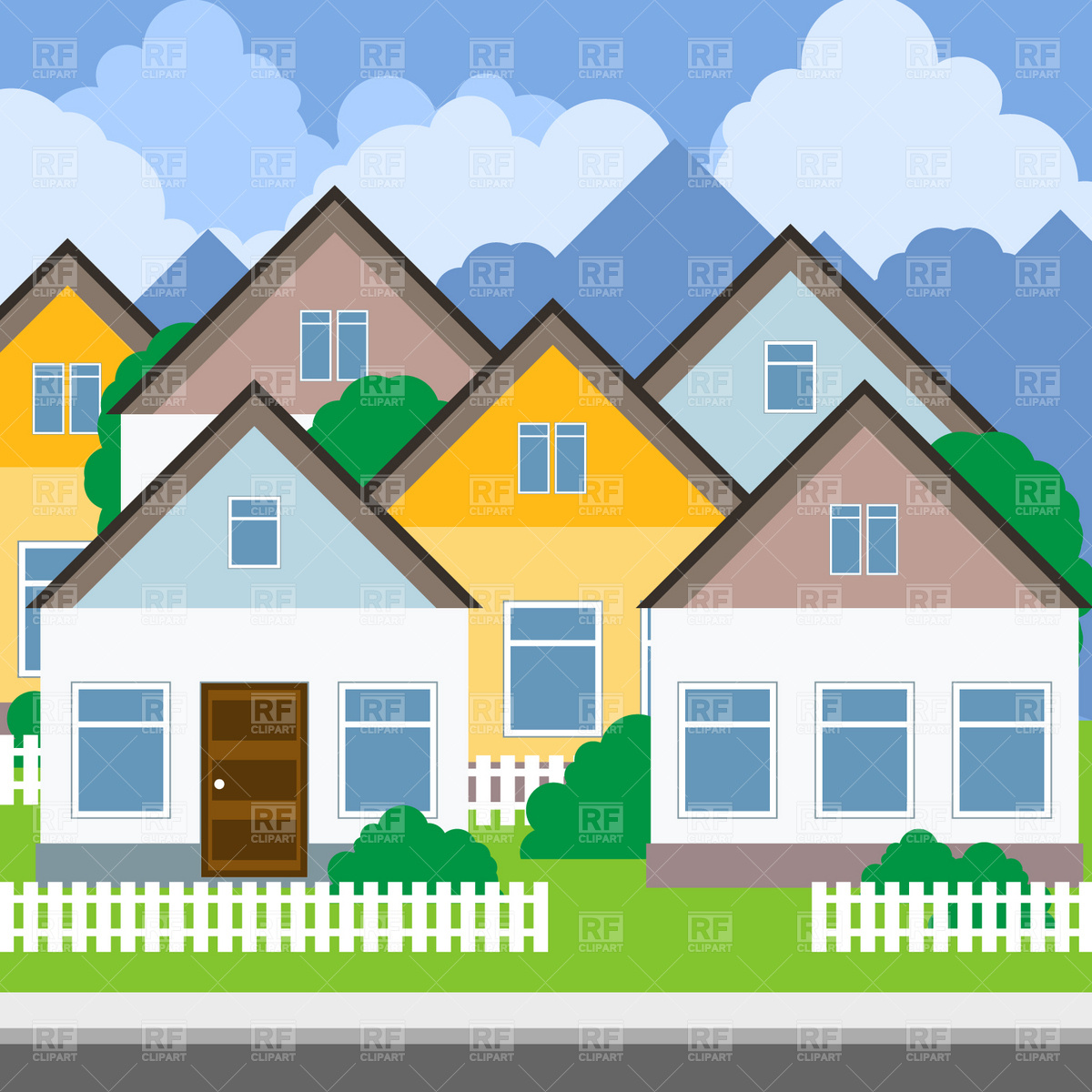Neighborhood clipart street address. Free town download clip
