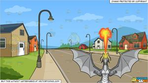 A dragon spitting out. Neighborhood clipart subdivision