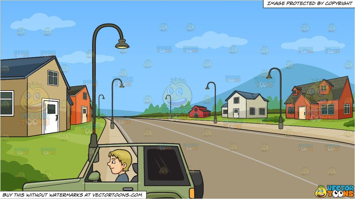 Neighbors clipart subdivision. A man driving an