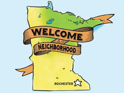 Neighborhood clipart town plaza. Get to know rochester