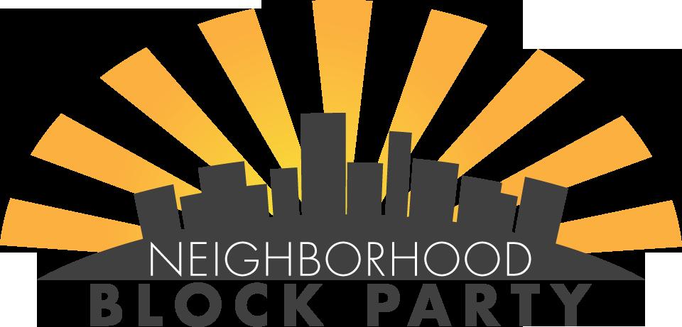 Neighbourhoods work block parties. Neighbors clipart five