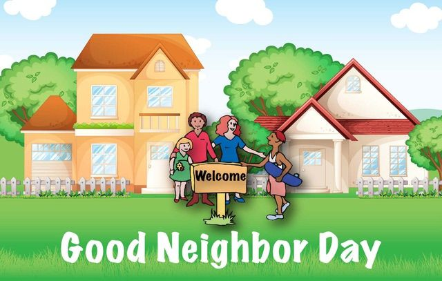Be a good neighbor. Neighbors clipart