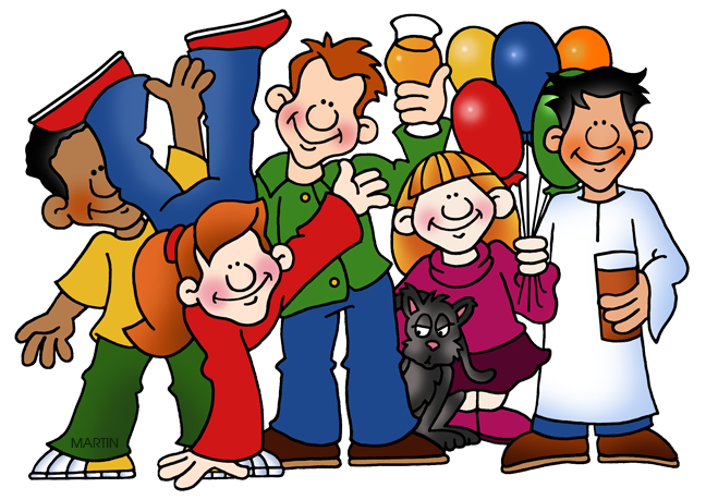 Family and friends clip. Neighbors clipart