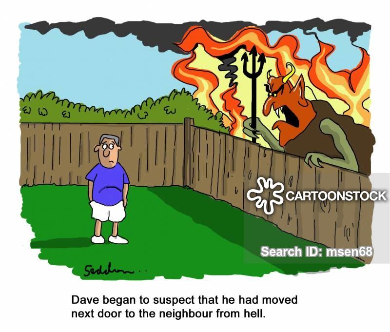 Neighbors clipart bad neighbour. Neighbor cartoons and comics