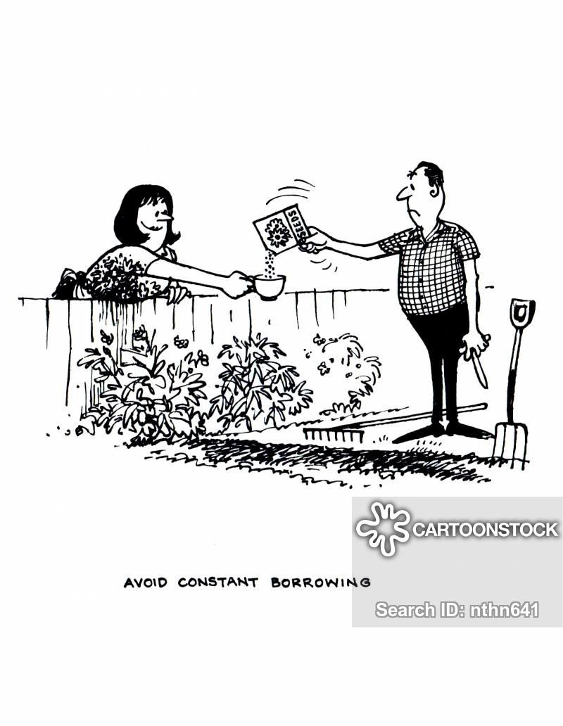 Neighbours cartoons and comics. Neighbors clipart bad neighbour