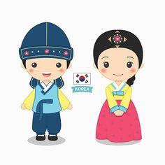 Neighbors clipart female. Korean girl hanbok clip