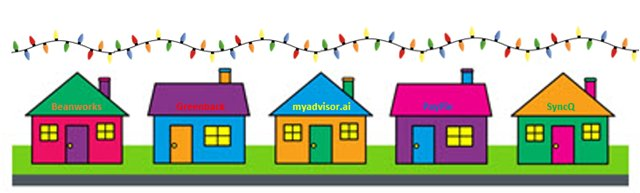 Newest in the app. Neighbors clipart many house