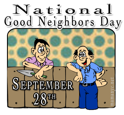 September th is national. Neighbors clipart next day