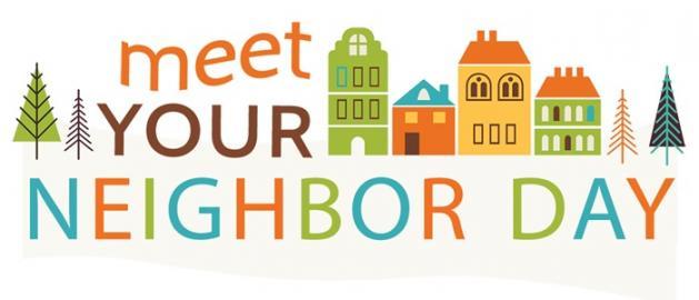Neighbors clipart next day. Meet your neighbor find