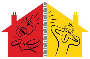 Need advice about dealing. Neighbors clipart noisy neighbor