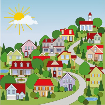 How online communities are. Neighbors clipart peaceful community