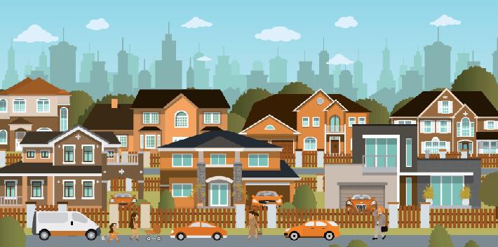 Neighbors clipart suburban neighborhood. Cliparts zone