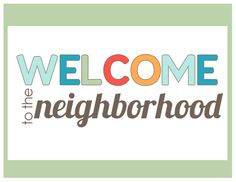 Cliparts frames zone . Neighbors clipart welcome guest