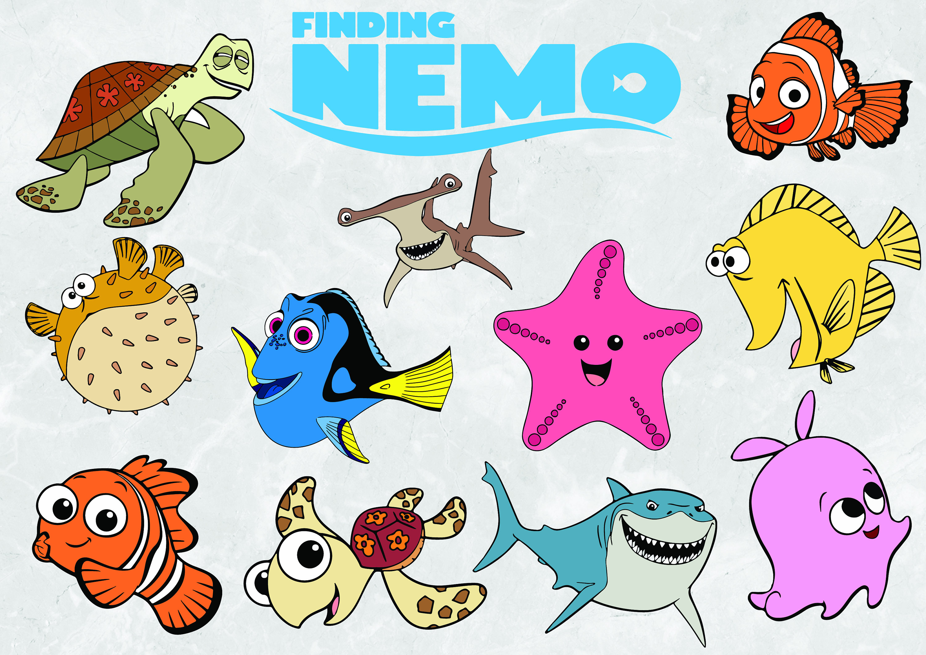 Nemo clipart animated. For printable to free